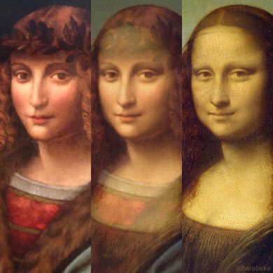 mona lisa and salai morphing